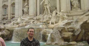 Eric in front of Trevi Fountain.