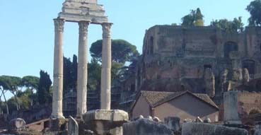 Columns of the Roman Forum.