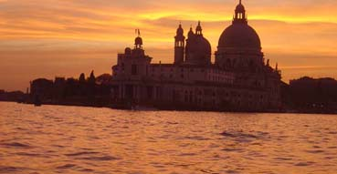Sunset in Venice.