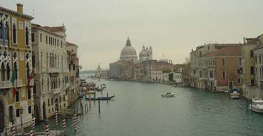 Grand Canal from bridge near Accademia.
