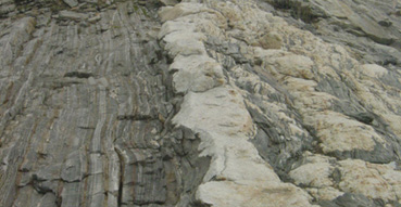 Interesting rock formations of Pemaquid Point.