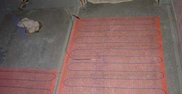 Underfloor heating net