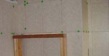 Shower shelf scaffolding
