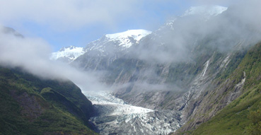 Little did we know, but this would be the best photo of the Franz Josef Glacier.