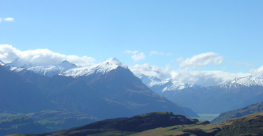 Mount Aspiring National Park from the top of Rocky Mount.