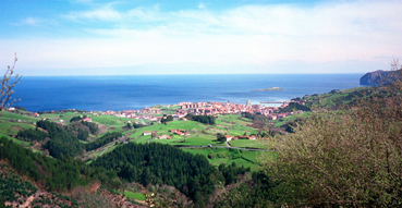 View of Bermeo from above.