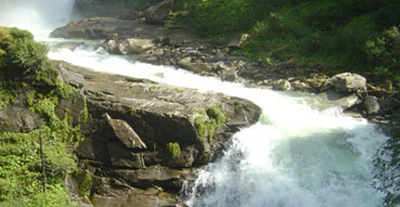 A portion of the Krimml Waterfall.
