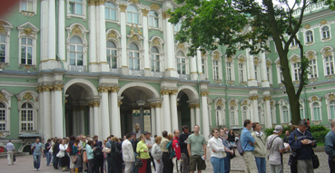 The line at the Hermitage.