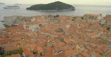 Dubrovnik from atop the city walls.