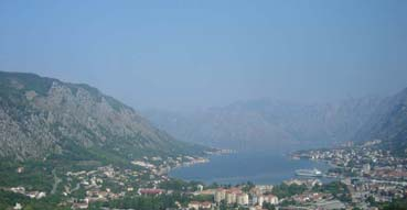 View of Kotor heading over the mountain.